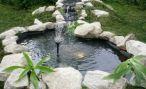 Как сделать фонтан в садовом пруду своими руками